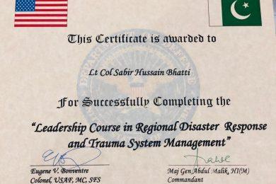Regional Disaster Response & Trauma Systems Management